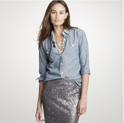 chambray + paillettes