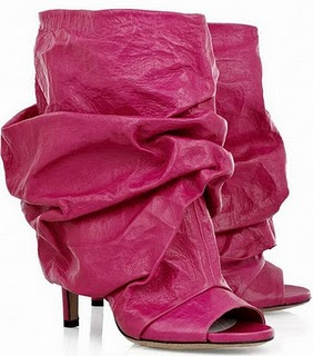 Maison-Martin-Margiela-ruched-leather-ankle-boot