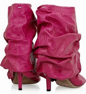 Maison-Martin-Margiela-ruched-leather-booties