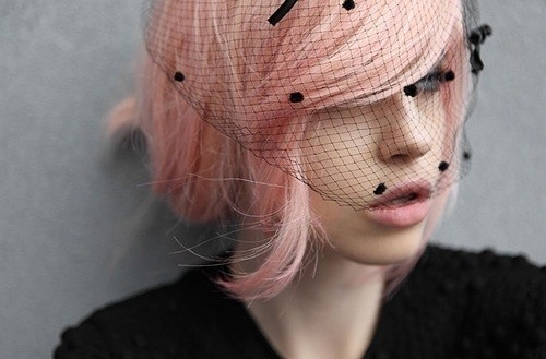 pink and black veil
